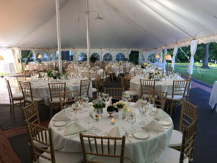 Inside of Wedding Tent