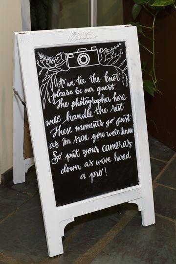 Sample chalk sign board