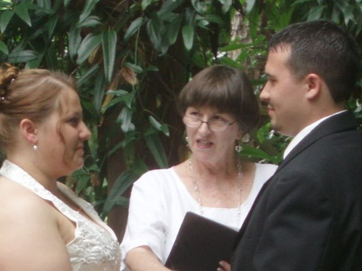 Tmx 1276472090068 JessicaromanKayelilyWeddingGarden20621090003 Raleigh, NC wedding officiant