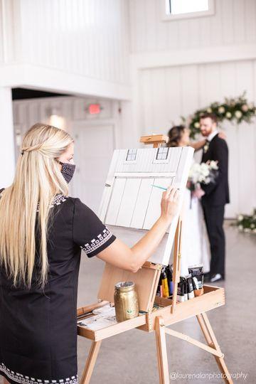 Acrylic Wedding Portrait