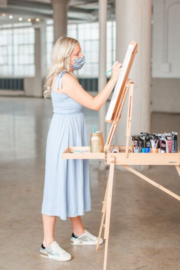 Acrylic Reception Painting