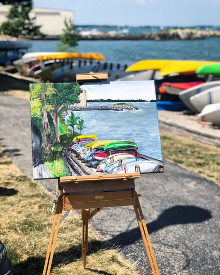 Final Painting by the lake