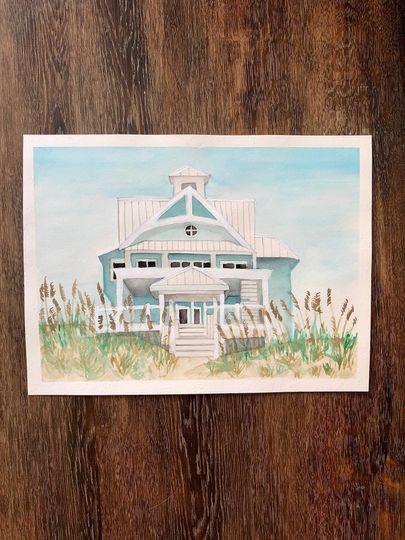 """8x10"""" watercolor venue"""