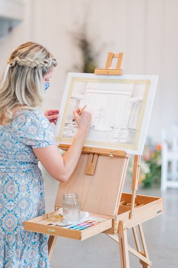 Watercolor Ceremony Painting