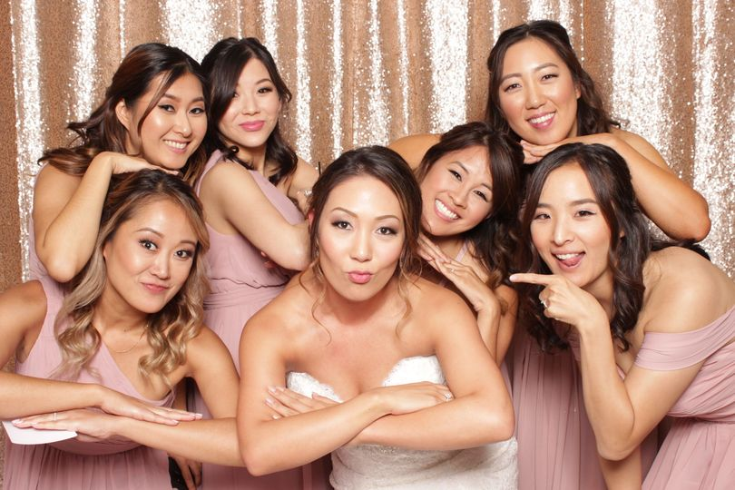 Go ahead and get all your girls in the PhotoBooth.  We can fit a crowd!