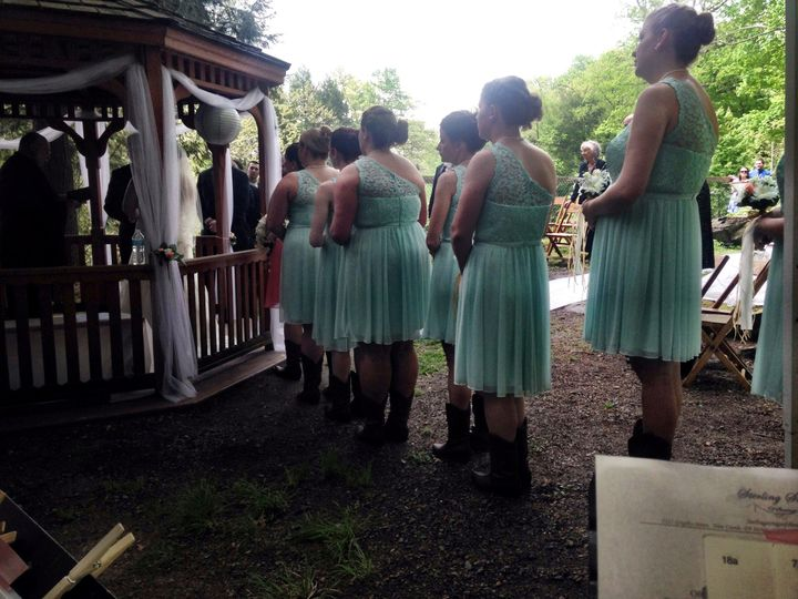 what a great idea! Outdoor wedding in Cascade Park, New Castle, PA - The view from the musicians'...