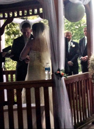 What a beautiful couple! Outdoor wedding in Cascade Park, New Castle, PA - The view from the...