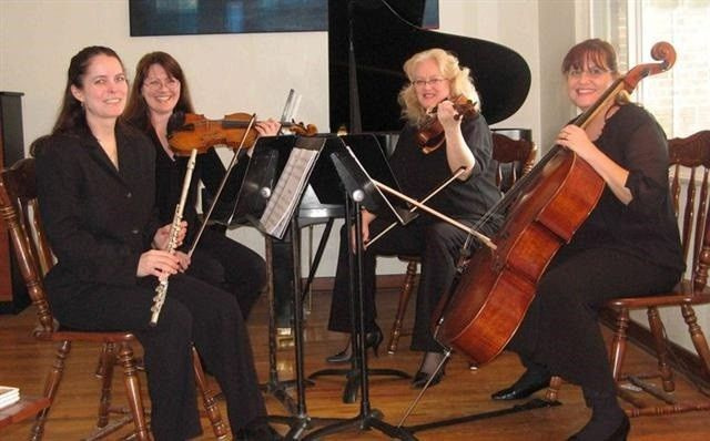 Co-founders of Sterling Strings of Shenango: Flutist Melissa Lessure and Cellist Susanna Reilly at a...