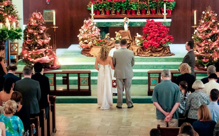 Christmas wedding. The church is decorated from Christmas Eve through the Sunday nearest Epiphany (6...