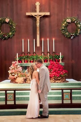 A Christmas wedding. (The church is decorated from Christmas Eve until the Sunday nearest the Feast...