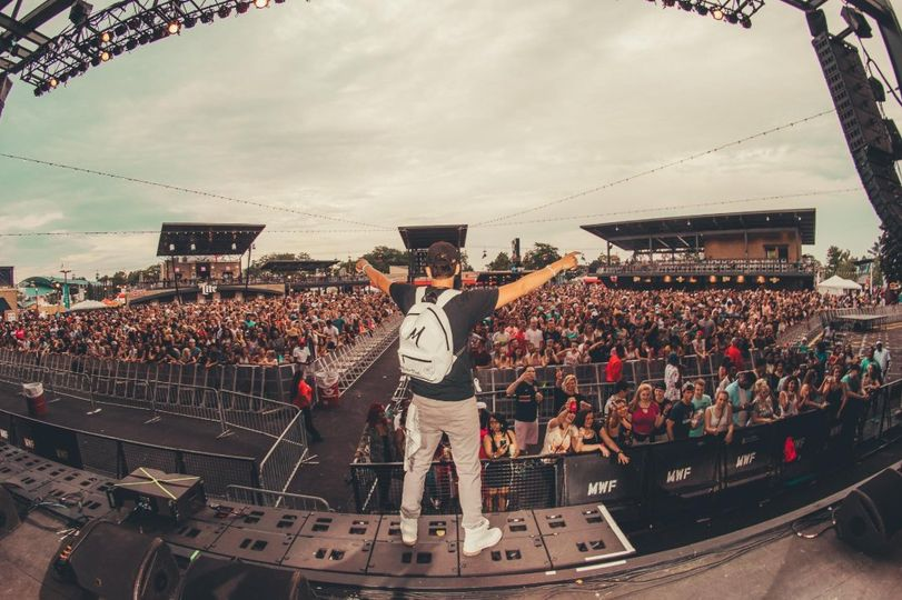 A fish-eye shot from the stage