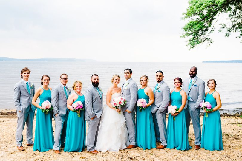 Water-front bridal party