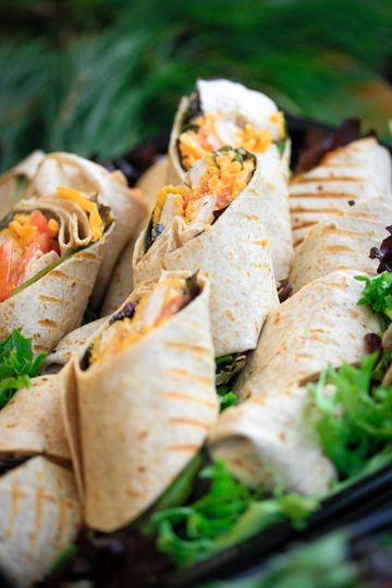 Wrap, salad and fruit trays