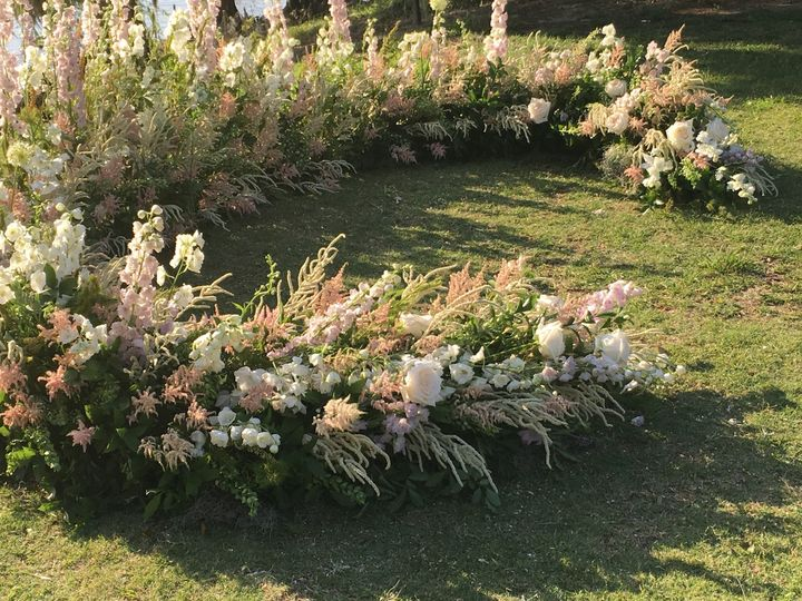 Closeup of the arrangement