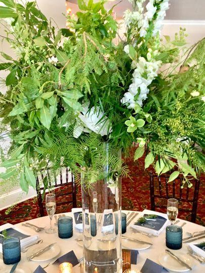 Leafy centerpiece