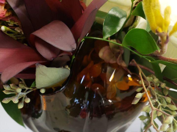 Tmx Amber Glass Pedestal Bowl With More Floral 51 1022739 1573247176 Petoskey, MI wedding rental