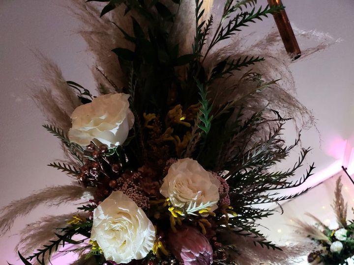 Tmx Floral Swag On Triangular Wooden Arch 51 1022739 1573247041 Petoskey, MI wedding rental