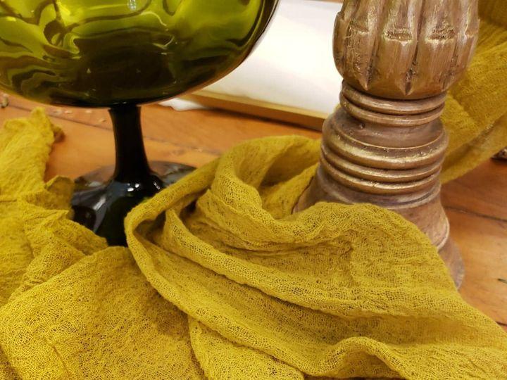 Tmx Mustard Cotton Gauze Runner 51 1022739 157955450679653 Petoskey, MI wedding rental