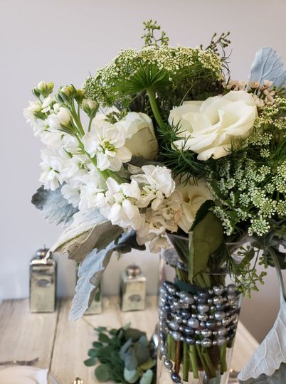 Floral in a trumpet vase