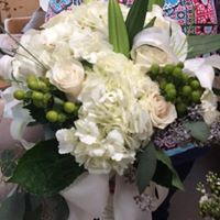 White floral decorations
