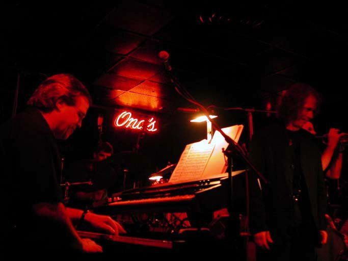 Ray Reach (L) and Lou Marini (R) at Ona's Music Room.