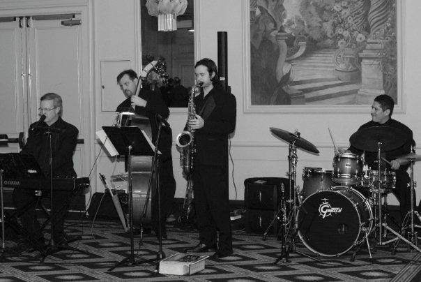 Ray Reach Quartet at a wedding reception.  Left to Right:  Ray Reach, Chris Wendle, Gary Wheat and...