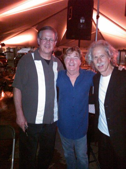 At the Franklin Jazz Festival - Left to Right:  Ray Reach, Paul Leim and Lou Marini.