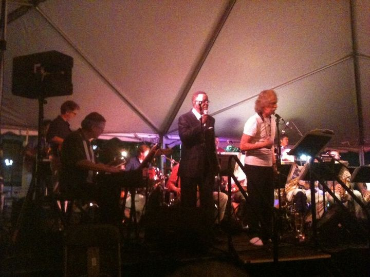 Onstage at the Franklin Jazz Festival with the Nashville Jazz Orchestra - Ray Reach on keys, Wigs...