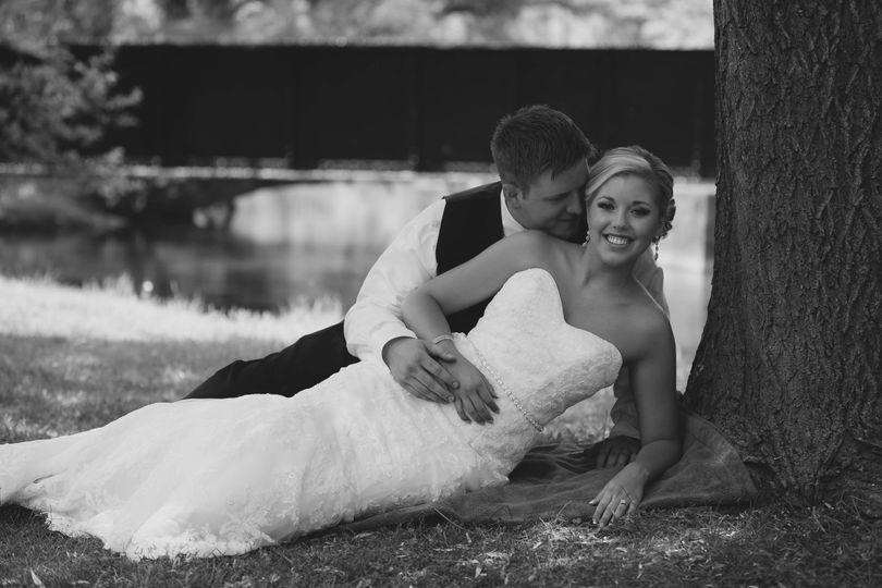 Ashlee + Brian (GrimeStone Photography) Gown- Maggie Sottero Tux- Ralph Lauren