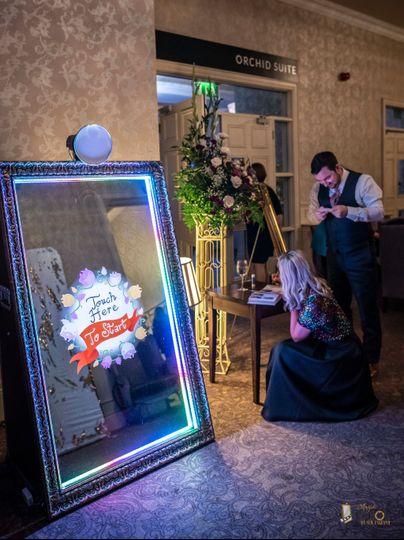Elegant photo booth entrance