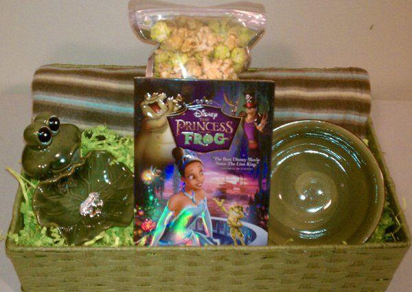 Frog Themed Movie Lover Basket