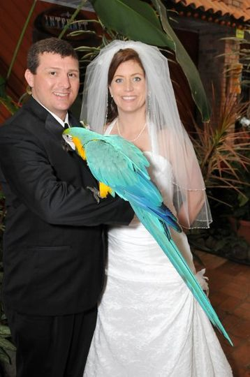 Couple with Macaw!