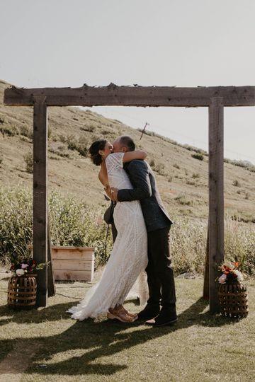 A kiss on the hillside