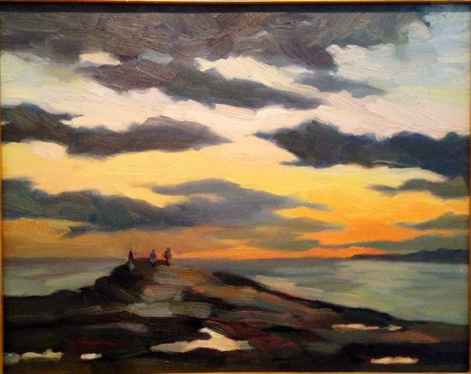 Sunset Witnesses 16x20 oil painting -sdn