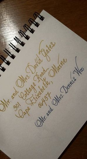 Calligraphy/envelope sample