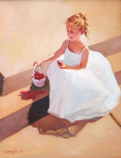 Flowergirl 18x24 oil on painel painting