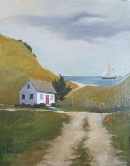 Honeymoon oil painting