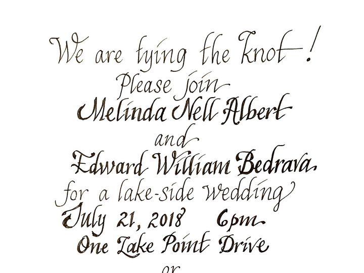 Tmx 1532538612 0f010071fc178702 1532538611 Eee79f453a28b2e9 1532538608351 4 20180714 220054 Madison, Connecticut wedding invitation