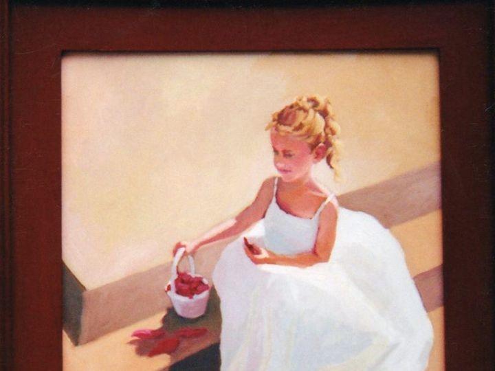Tmx Flower Girl 16x20 Oil On Panel Sold 975 00 51 935739 V1 Madison, Connecticut wedding invitation
