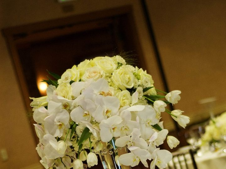 Tmx 1389489060549 White Tall Centerpiece Orchids Bella Vita Event Pr Windsor wedding florist