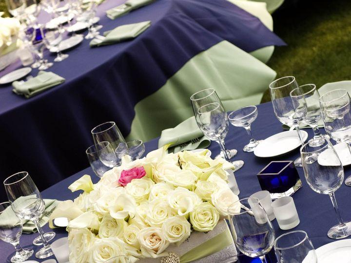Tmx 1389489146130 Ftizhaven Green White Navy Centerpiece Windsor wedding florist