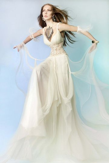 A Victoria KyriaKides gown, with Grecian style straps and hand fitted bustier. The core consists of...