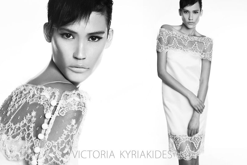 An amazing Victoria KyriaKides, urban, 30's dress, with modern aesthetics. Made of Italian organza...