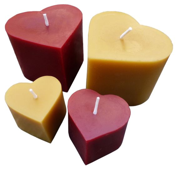 Show your love with pure beeswax hearts.