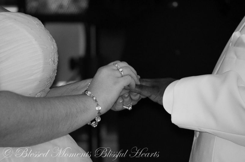 Placing the ring on groom