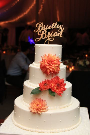 Floral decorations on cake