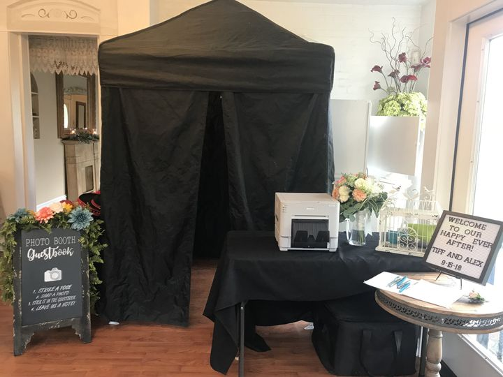Booth at Wedding