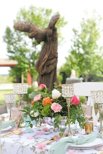 Table set up by our waterfallCredit: Urban Gal Photography