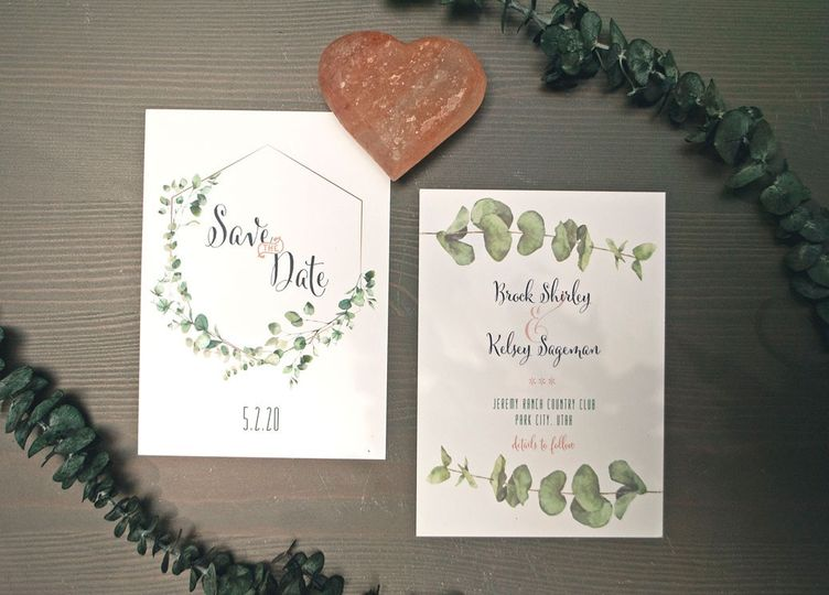 Double-sided Save the Date