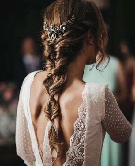 A gorgeous bridal look